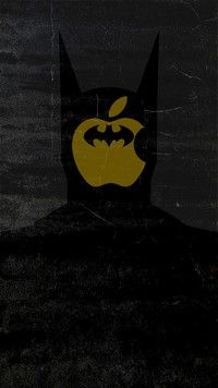 Iphone 7 Wallpapers Face Of Batman In The Apple Iphone Logo
