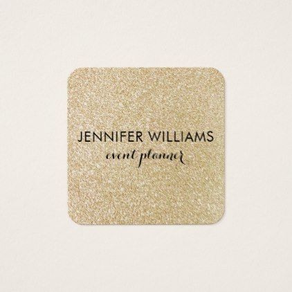 Glam Faux Gold Glitter Look Business Card - trendy gifts cool gift ideas customize