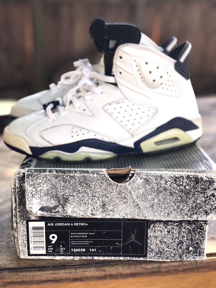 a525f808f20 AIR JORDAN 6 RETRO 2000 WHITE MIDNIGHT NAVY SZ 9MENS Original box 1 Lace  Lock  fashion  clothing  shoes  accessories  mensshoes  athleticshoes (ebay  link)