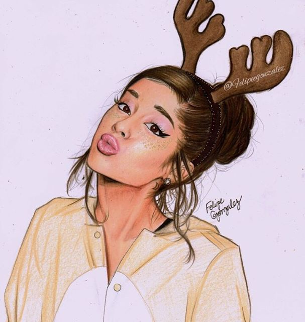Ariana Grande Christmas Wallpaper: Instagram Media By Felipeegonzalez