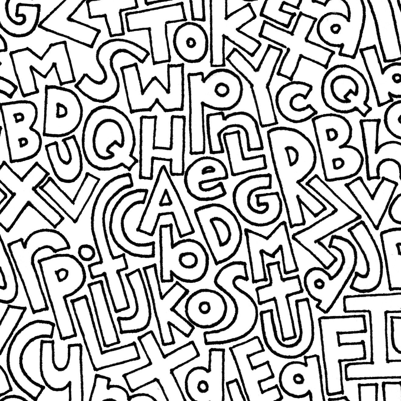 ALPHABET COLORING PAGE | Etsy | Coloring pages, Alphabet ...