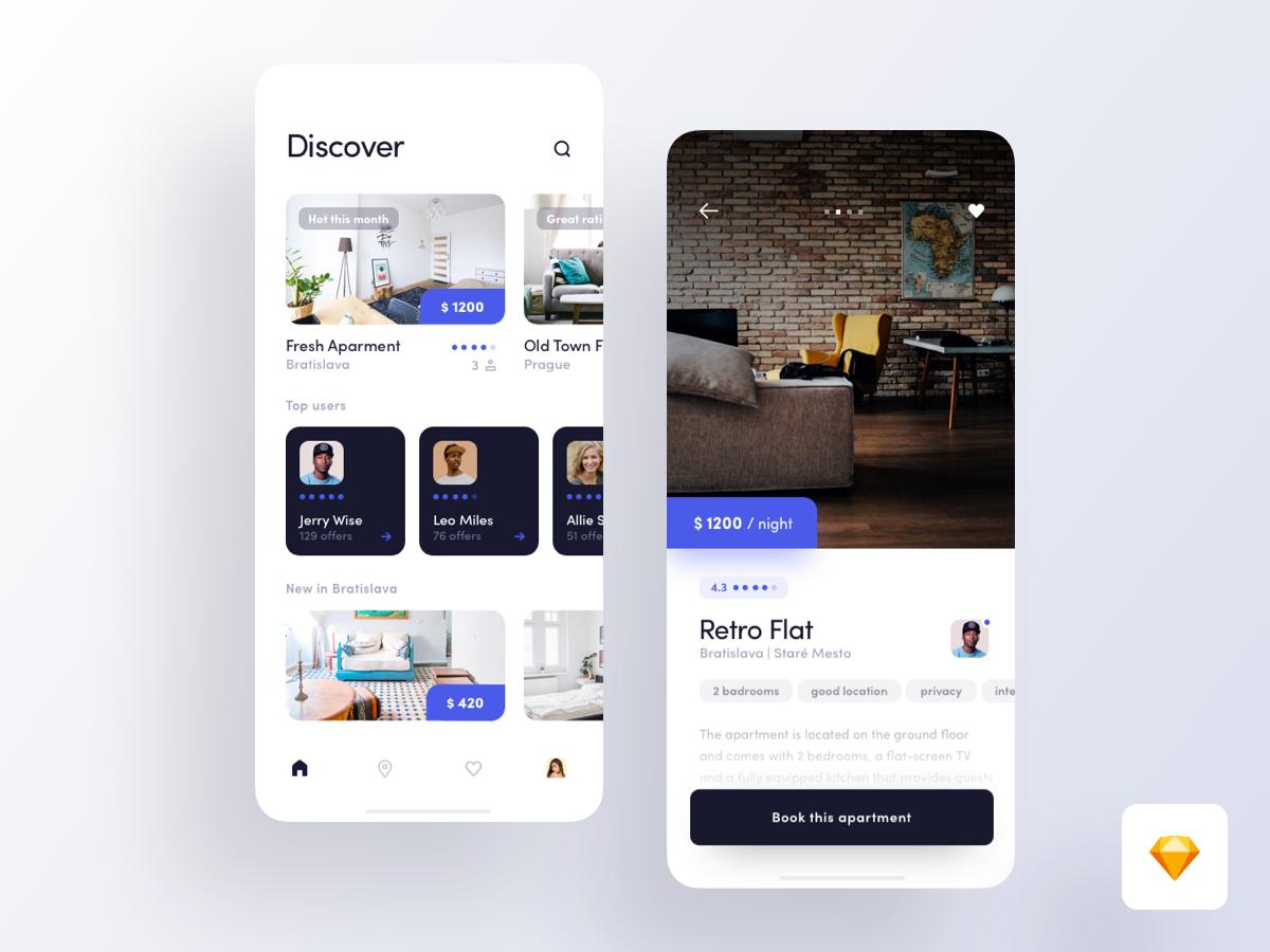 Экран информации о помещении с фото. | Дизайн, Мобильные