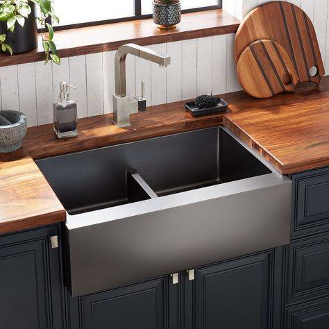 29 atlas double bowl stainless steel farmhouse sink in on farmhouse sink lowest price id=35112