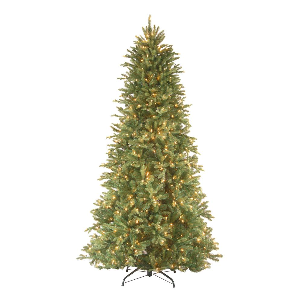 National Tree Company 9 Ft Feel Real Tiffany Fir Slim Hinged Artificial Christmas Tree Fir Christmas Tree Slim Christmas Tree Slim Artificial Christmas Trees