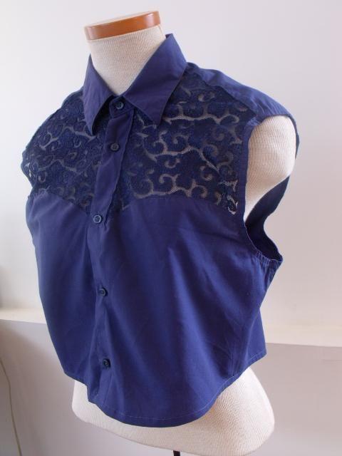 Handmade - T-Shirt mit Spitze verschönern