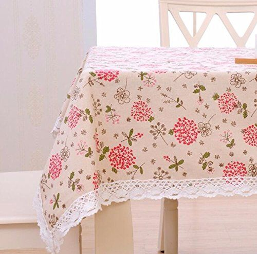 Wfljl European Style Cotton Dining Table Decoration Coffee Table