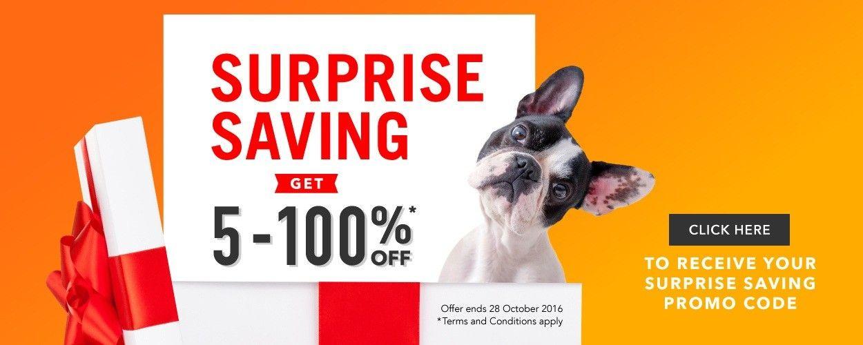 5-100% Off Selected Items - Surprise Saving @ Petpost - Bargain Bro