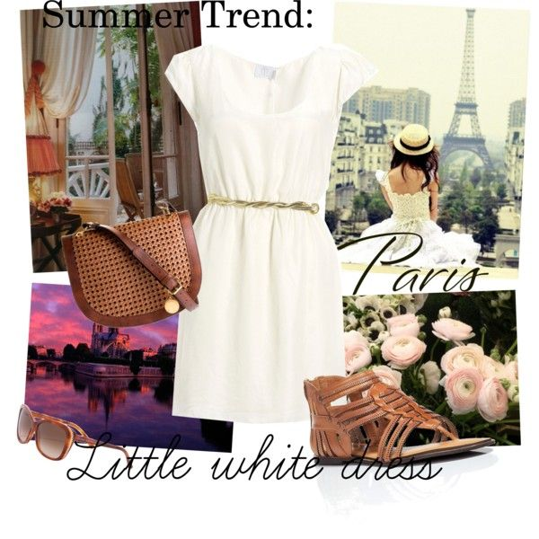 Summer Trend: Little White Dress, created by meganmeg.polyvore.com