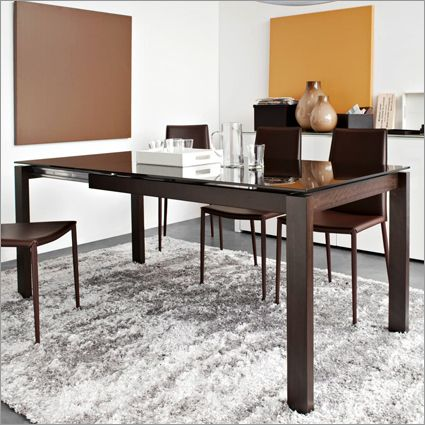calligaris baron lv extending table, glass by s.t.c. | dining ... - Soggiorno Calligaris