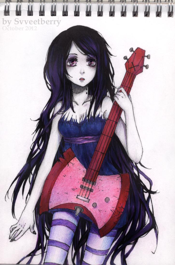 Anime Characters Vampire : Adventure time marceline by svveet on deviantart my