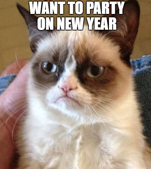 Happy New Year Memes Images For Whatsapp 2020 Happy New Year 2020 Grumpy Cat Christmas Grumpy Cat Humor Cat Birthday Funny
