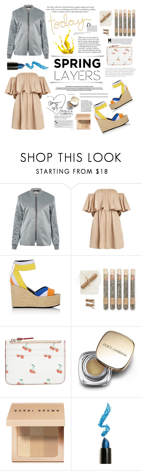 """""""wardrobe basics: spring jacket. <3"""" by tatjana ❤ liked on Polyvore featuring Acne Studios, Pierre Hardy, Anja, Truly Aesthetic, Marc by Marc Jacobs, Dolce&Gabbana, Bobbi Brown Cosmetics, Lime Crime and Victoria Beckham"""