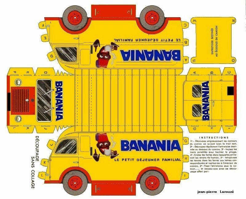 banania les camionnettes publicitaires du tour de france photocopier sur papier clairfontaine. Black Bedroom Furniture Sets. Home Design Ideas