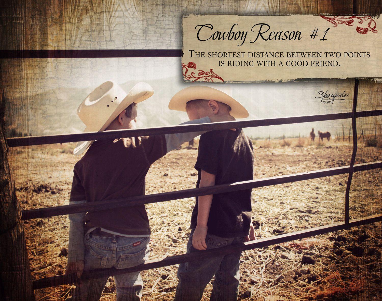 Cowboy Reason 1: Riding with a good friend 11x14 Art Print by Shawnda Craig. $8.00, via Etsy.