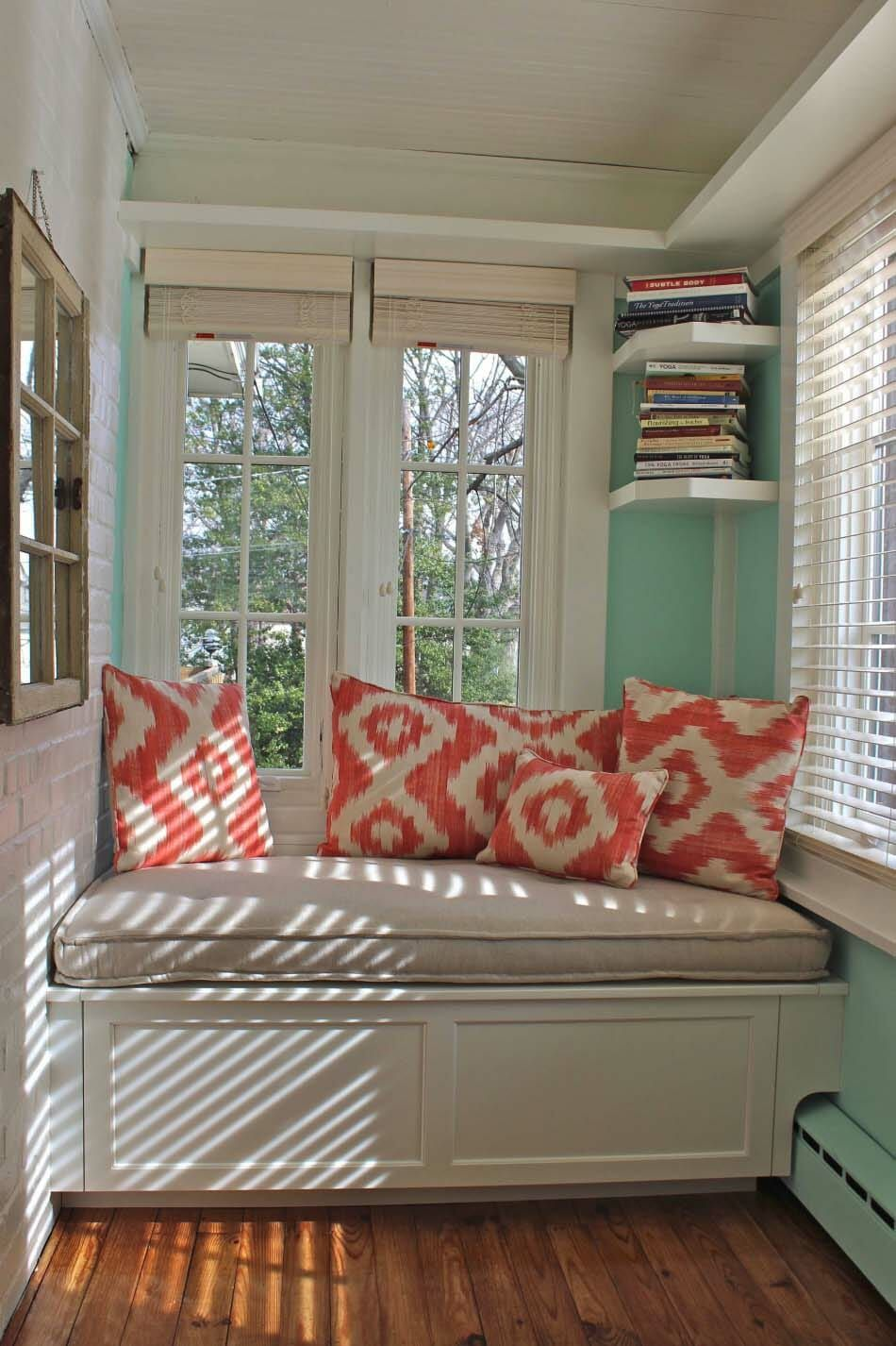 20 Incredibly Cozy Book Nooks You May Never Want To Leave Window Seat Cushions Cozy Living Room Furniture Window Seat