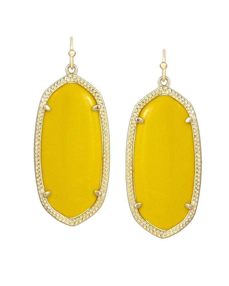 14d9ee9230168 Kendra Scott Elle Earrings in Yellow #KendraScott   Happy yellow ...