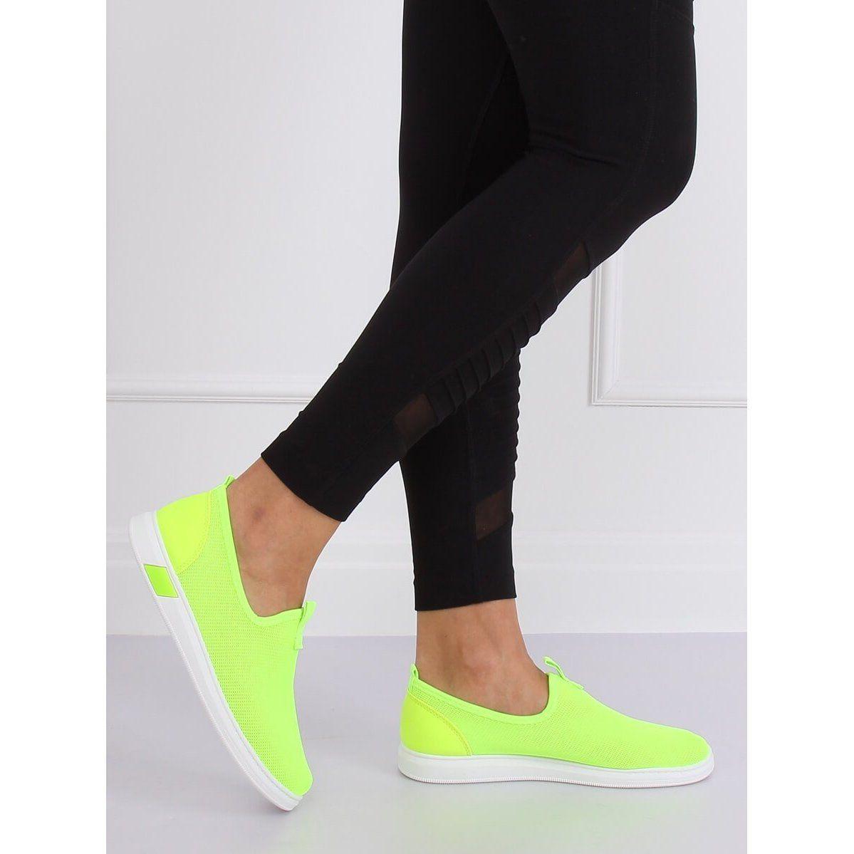 Tenisowki Wsuwane Neonowe 1066 Green Zielone Vans Classic Slip On Sneaker Slip On Sneaker Sneakers