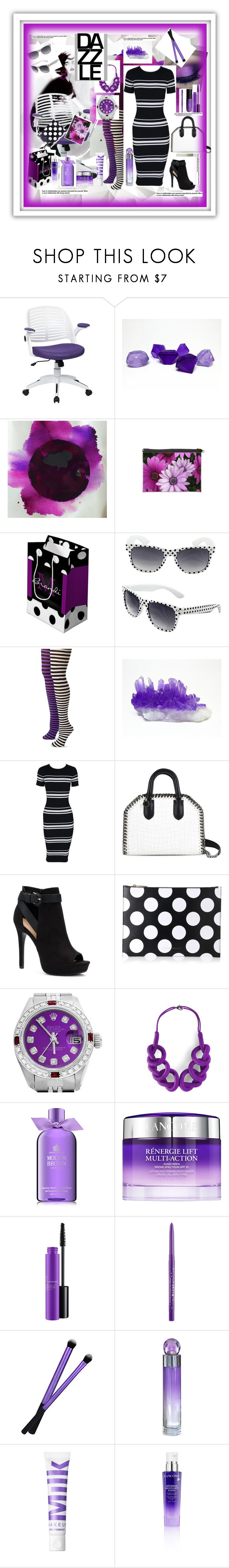 """""""Beat the clock"""" by yvonne1406 ❤ liked on Polyvore featuring H&M, AveSix, Music Legs, MINKPINK, STELLA McCARTNEY, Apt. 9, Victoria Beckham, Rolex, ShoeDazzle and Molton Brown"""