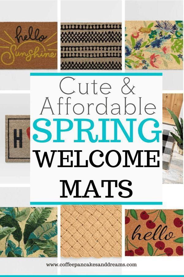 12 Cute Doormats for Your Front Door #spring #porchdecor #layereddoormat