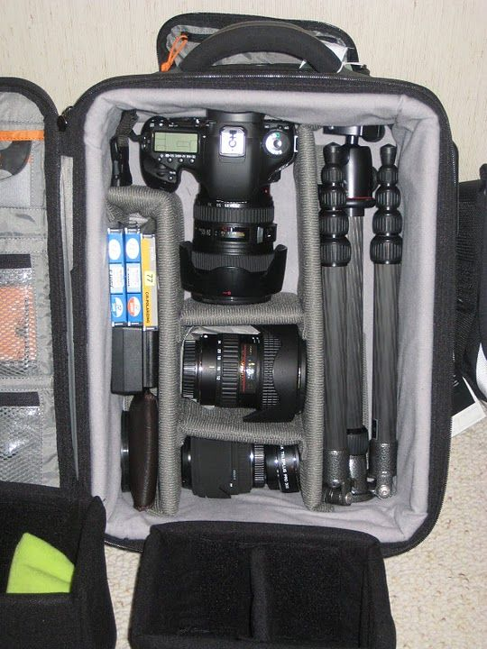 I need to organize and protect my camera equipment like this. Nice!