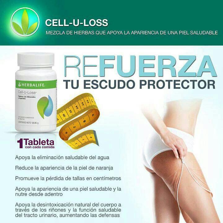 Cell-u-loss-  esta tablet ami me ayudado tanto con el agua que retenia y con la cellulitis de mis piernas.... si esto es un problema para ti tambien marcame Soy Eva y el # es +5214444262452www.goherbalife.com/naohb