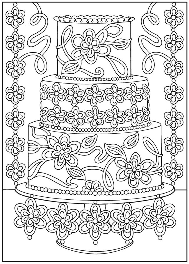 Dessert Designs Coloring Pages Coloring pages, Coloring