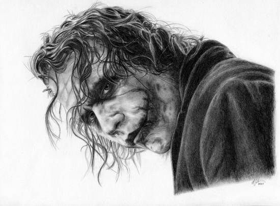 Joker Scribble Drawing : Traditional art drawing paintings for inspiration