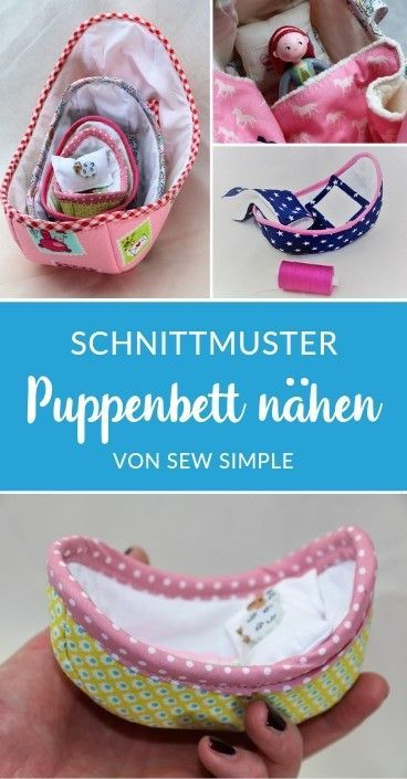 Photo of Puppenbett in 4 Größen Schnittmuster eBook