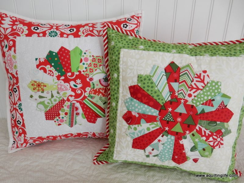 Quilted Christmas Pillows A Quilting Life Christmas Fabric Crafts Xmas Pillows Quilted Christmas Gifts