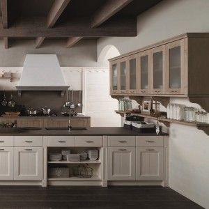 mediterrane kucheneinrichtung landhausmobel, cucina: contenere di più con tanti pensili o pensili grandi - cose, Kuchen
