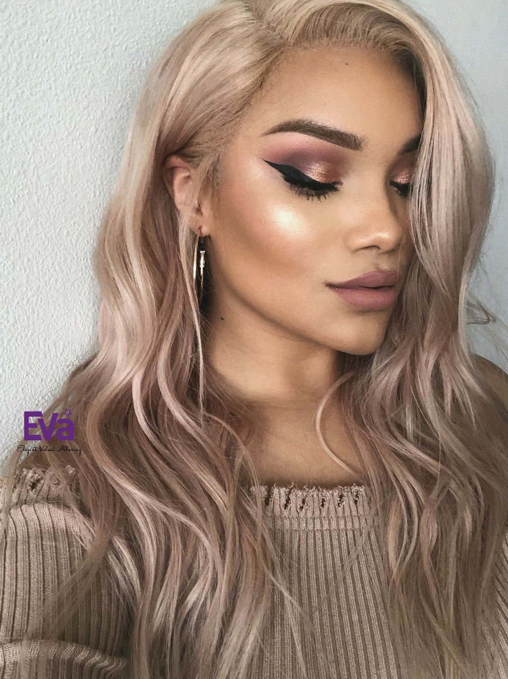 Custom color ash blonde full lace human hair wig type dark