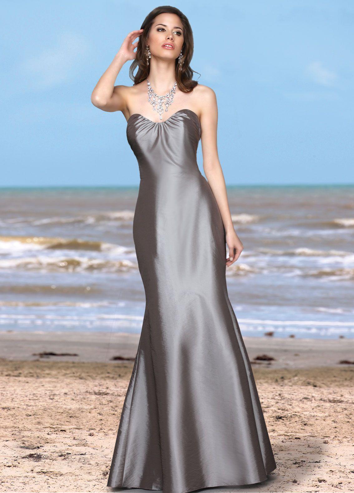 Glamorous mermaid bridesmaid dress by da vinci long