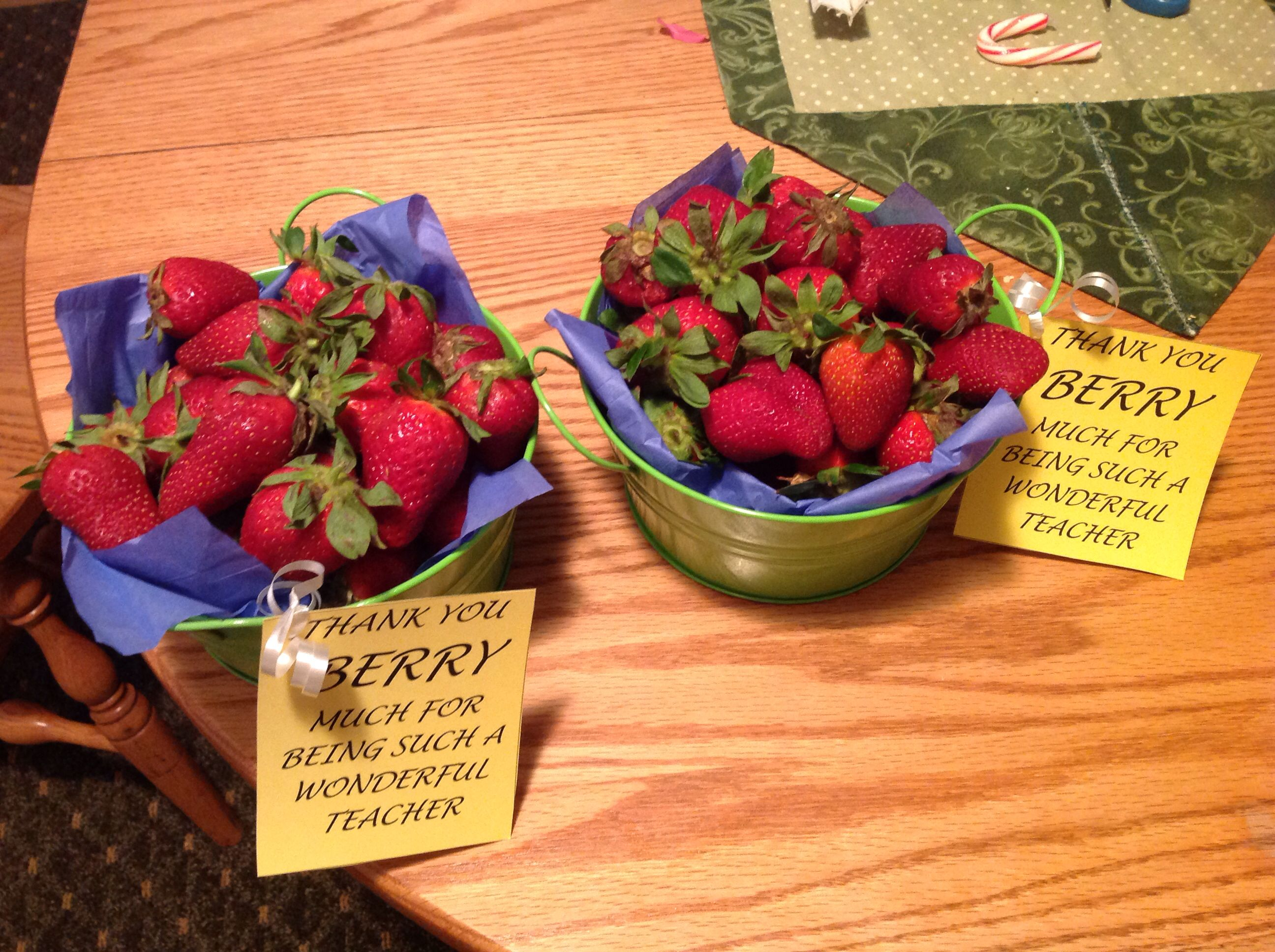 Berry basket for teacher appreciation week berry