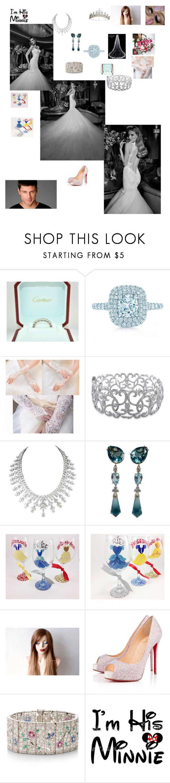 """My Dream Wedding"" by ejmfashionista ❤ liked on Polyvore featuring Cartier, Tiffany & Co., Ice, Diamond Scene, Rick Owens Lilies, Christian Louboutin, Simon Teakle, dreamwedding and galiahav"