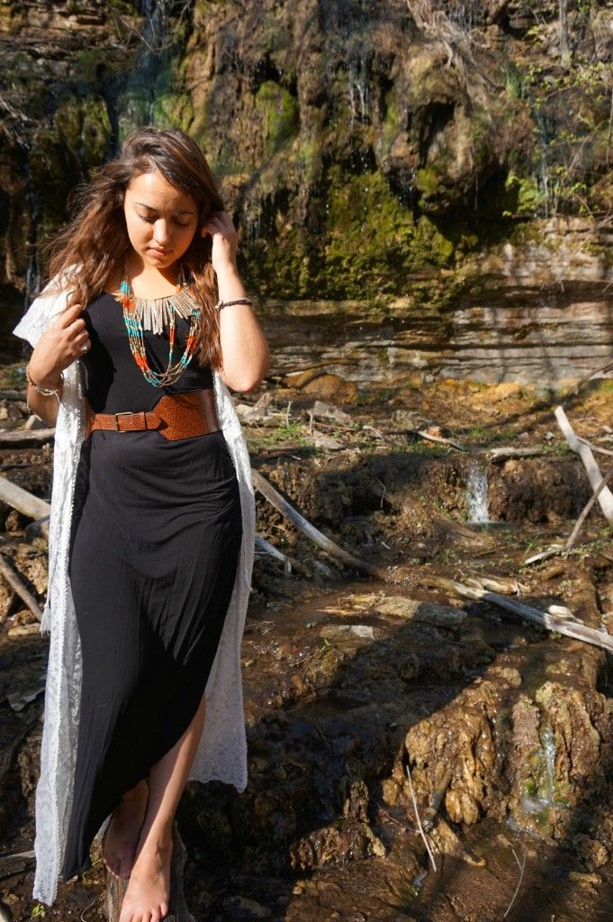 Duster dress with maxi dress