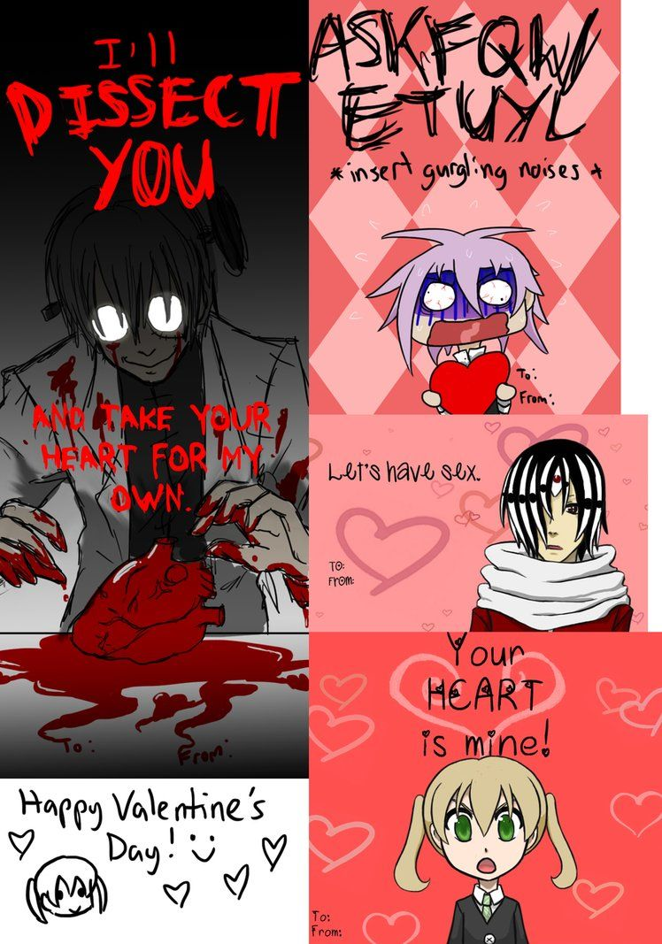 Soul Eater valentine's day cards. So doing this!