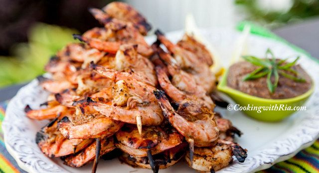 Cooking with Ria: Ria's Caribbean Pepper-Jerk Shrimp #jerkshrimp