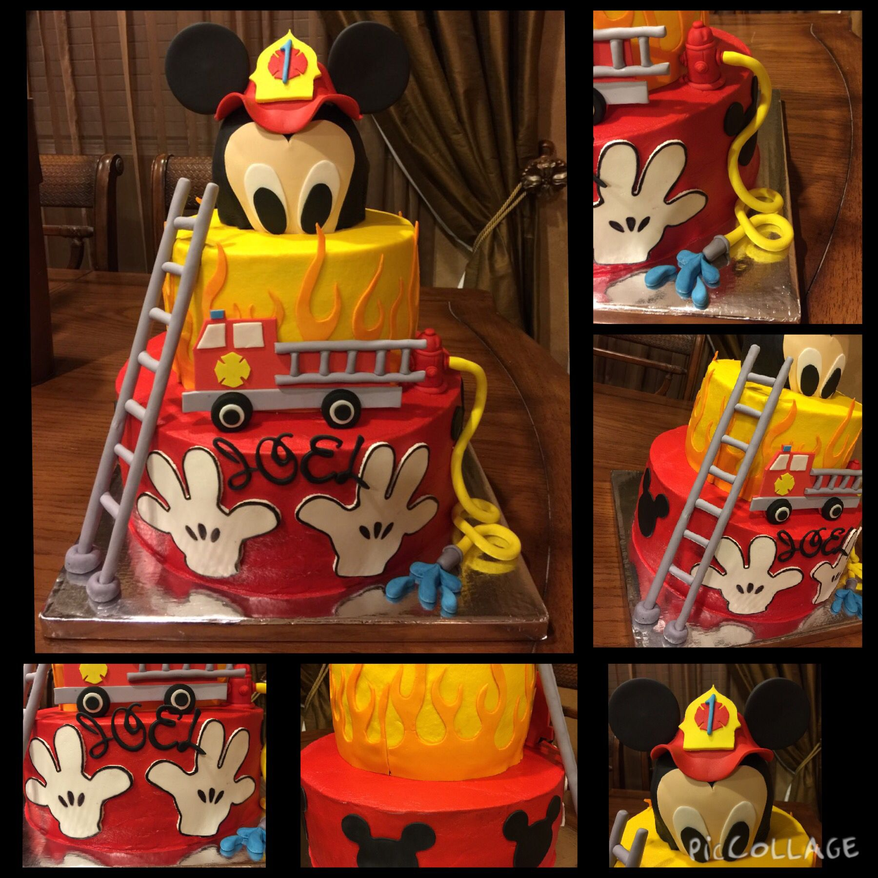 Fireman Mickey Mouse Cake Cakes In 2019 Mickey Mouse