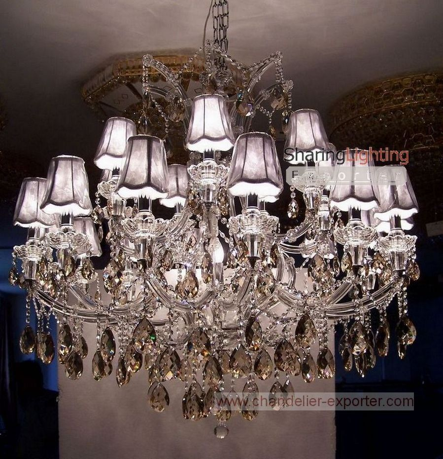 Chandelier crystal with shades google search lighting chandelier crystal with shades google search aloadofball