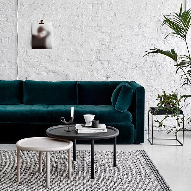 All Aboard The Velvet Express Styled Photographed By Our Faves Weekdaycarnival Susanna Vento Sofa Is Covered In Fabric From Kvadrattextile