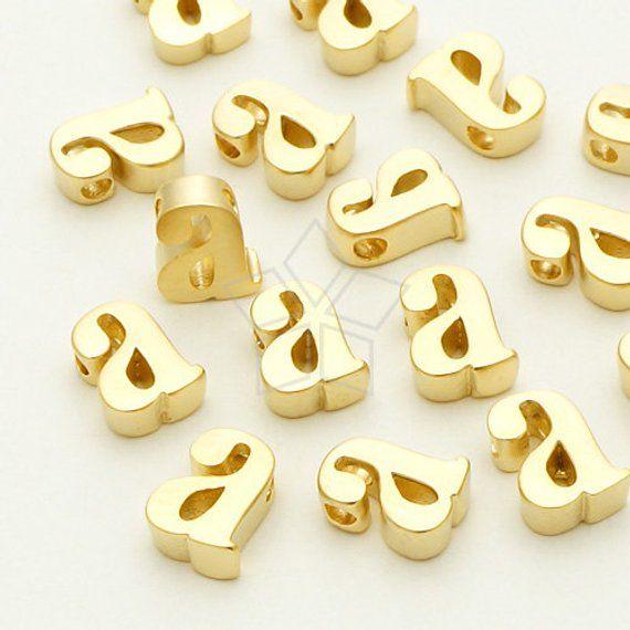21e6bc6563095 IN-182-MG / 2 Pcs - Initial Tiny Pendant, Alphabet, Lower Case ...