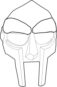 Mf Doom Mask Drawing Black And White Png Image With Transparent Background Png Free Png Images In 2021 Mask Drawing Mf Doom Mask Drawings