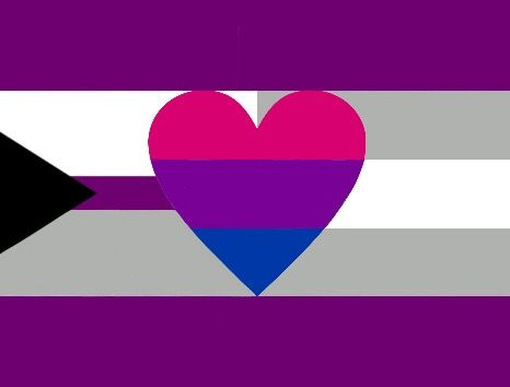 Biromantic demisexual flag