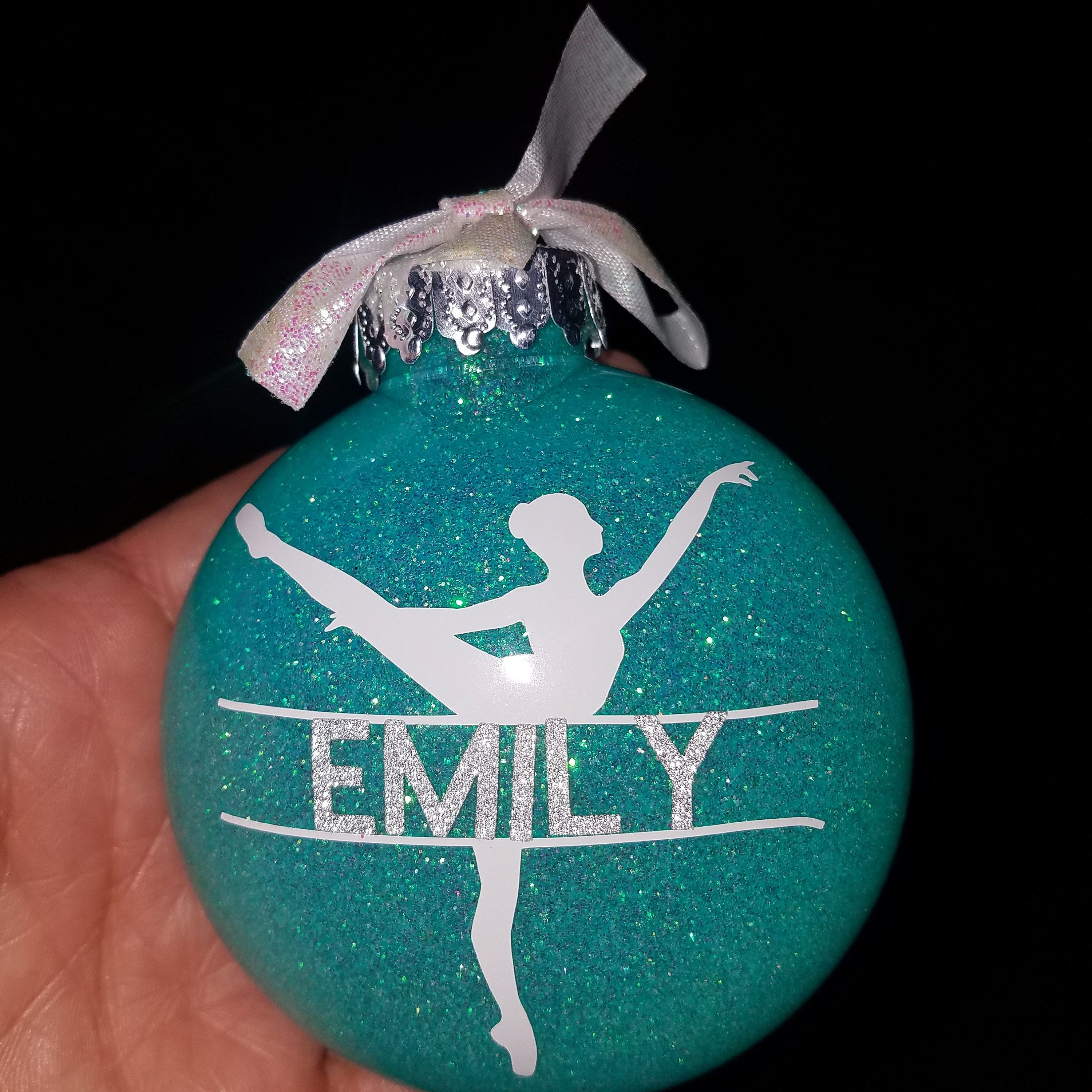 Bulk personalized dancer ornaments perfect gift for dance