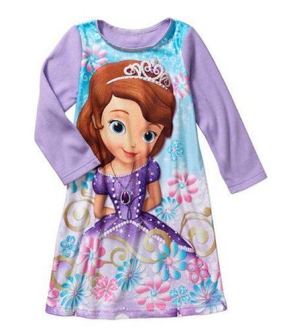 Disney Princess Sofia the First Flannel Sleepwear Gown Size 5T ...