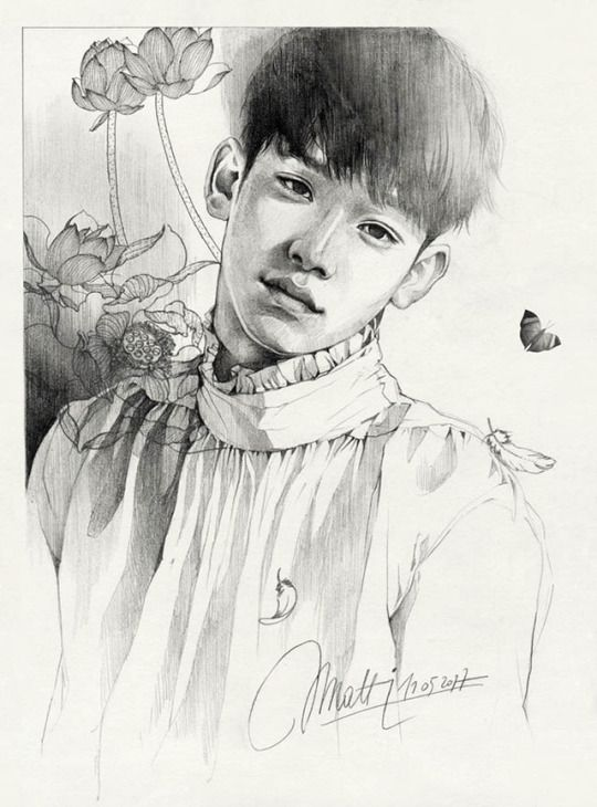 Exo Exo Fanart Chen Kim Jongdae Chen Fanart Pencil Drawing Sketch Portrait Fanart Kpop Kpop Fanart Korean Idol My Art Exo Drawing Exo Art Exo Fan Art