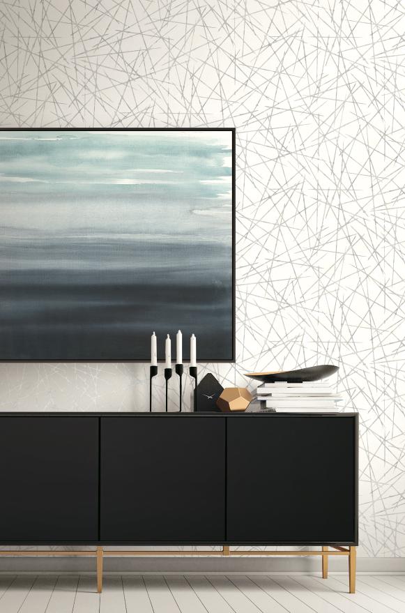Scandinavian Interiors Featuring Grey And White Crosshatch