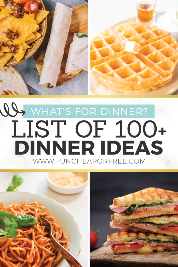 List of 100 Plus Dinner Ideas for Easy Meal Planning images