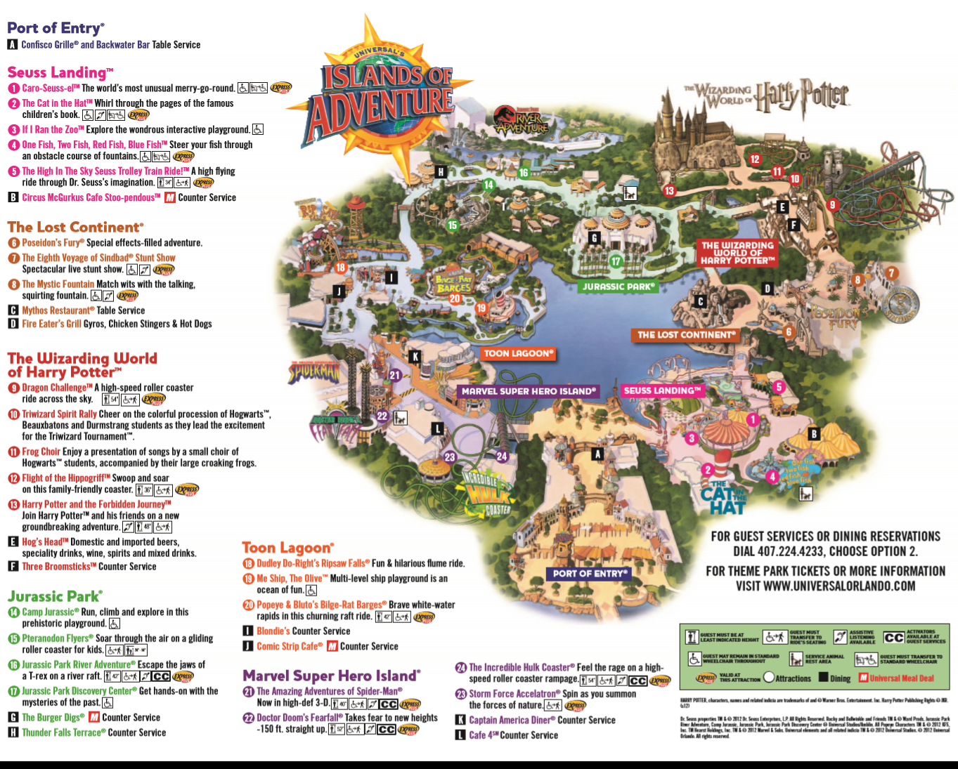 Islands Of Adventure Island Of Adventure Orlando Islands Of Adventure Universal Studios Orlando Map
