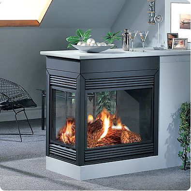 Continental BCDV40 Direct Vent Gas Fireplace Two Sided, Peninsula Available